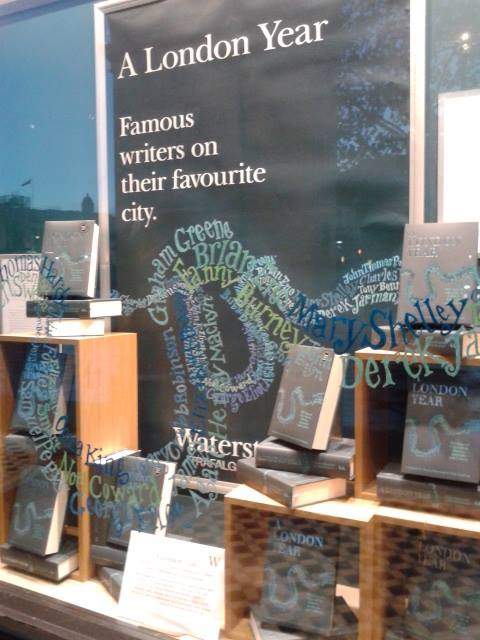 A London Year: The window at Waterstones Trafalgar Square