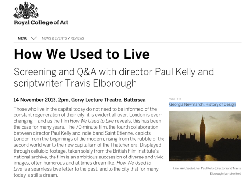 Review: How We Used to Live from Georgia Newmarch at the RCA