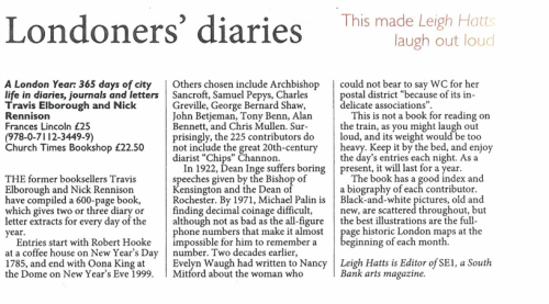 Church Times review of A London Year