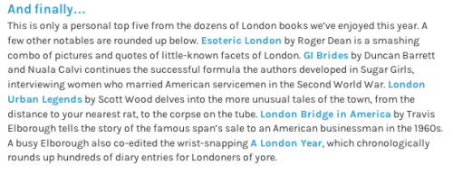 Londonist Best London Books 2013