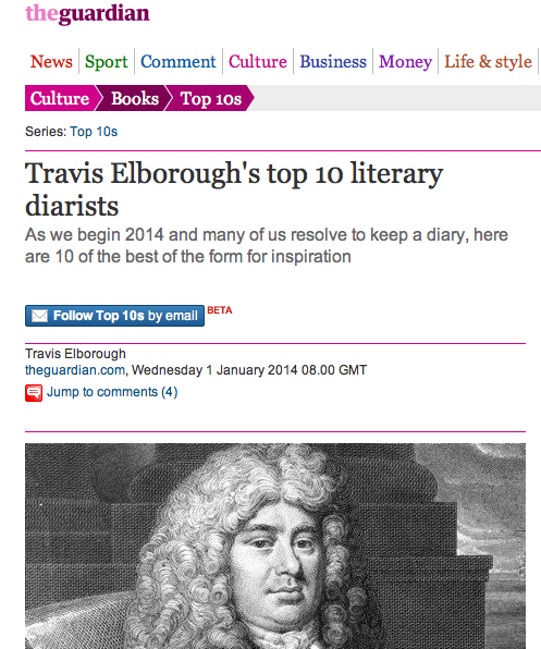 The Guardian - My Top Ten Literary Diarists