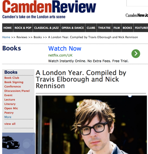 Interviewed by Dan Carrier in Camden New Journal about A London Year