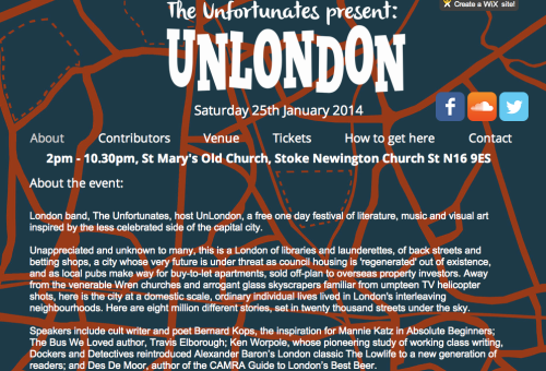 Event: Unlondon - 25th January from 2pm at St Mary's Old Church, Stoke Newington, N16