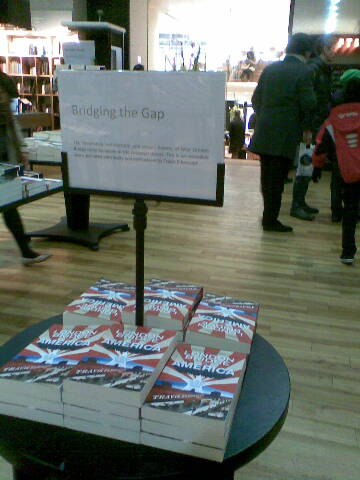 London Bridge in America - piled high in Waterstone's Piccadilly