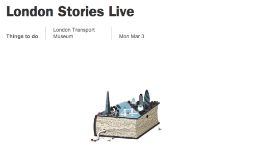 Event: London Stories Live with Mark Mason and Hannah Velten Monday 2nd March
