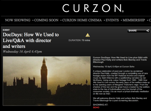 How We Used to Live - screening plus Q&A - Curzon Soho 16th April