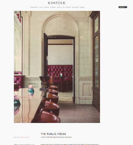 The Public House -  Kinfolk magazine