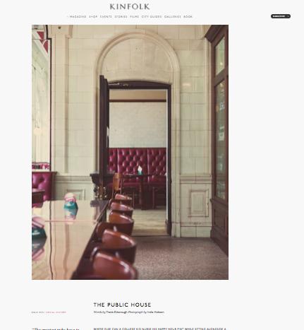 The Public House -  Kinfolk magazine