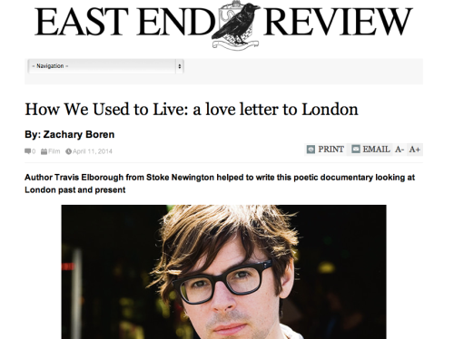 Interviewed by Hackney Citizen about How We Used to Live