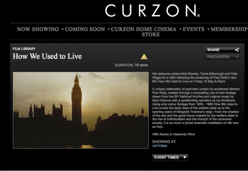 How We Used to Live - screening plus Q&A - Curzon Victoria - Friday 16th May 6.20 pm