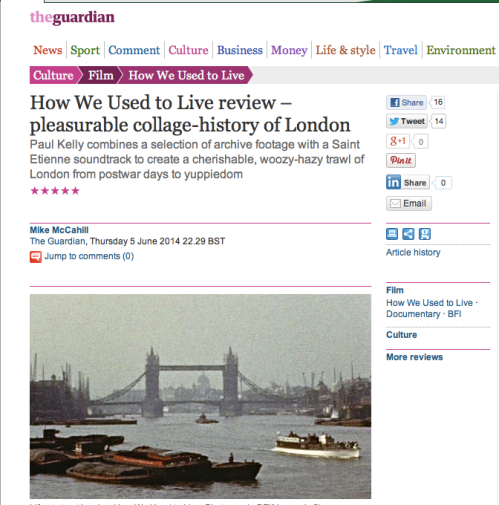 How We Used to Live - Five Star Review in The Guardian
