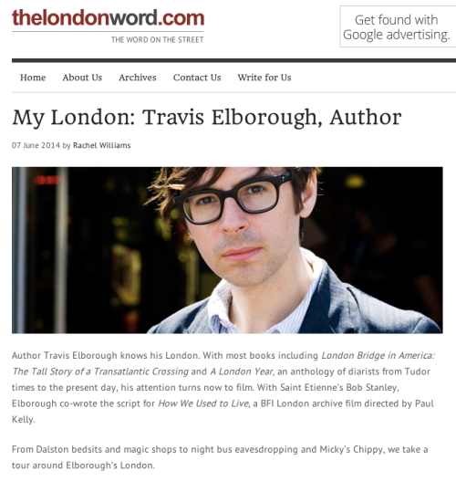 The London Word - My London interview