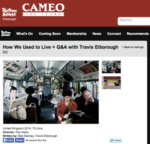 How We Used to Live screening with Q&A 19 June Edinburgh Cameo
