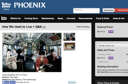 How We Used to Live - plus Q&A Phoenix Oxford 10 July